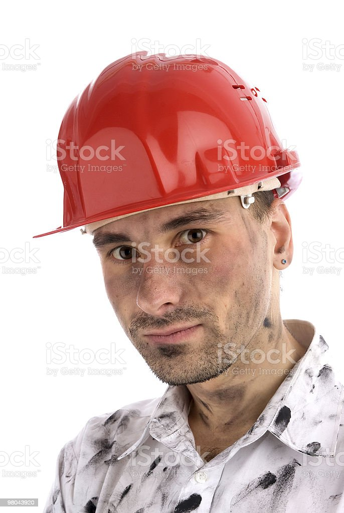 portrait of worker man royalty-free stock photo