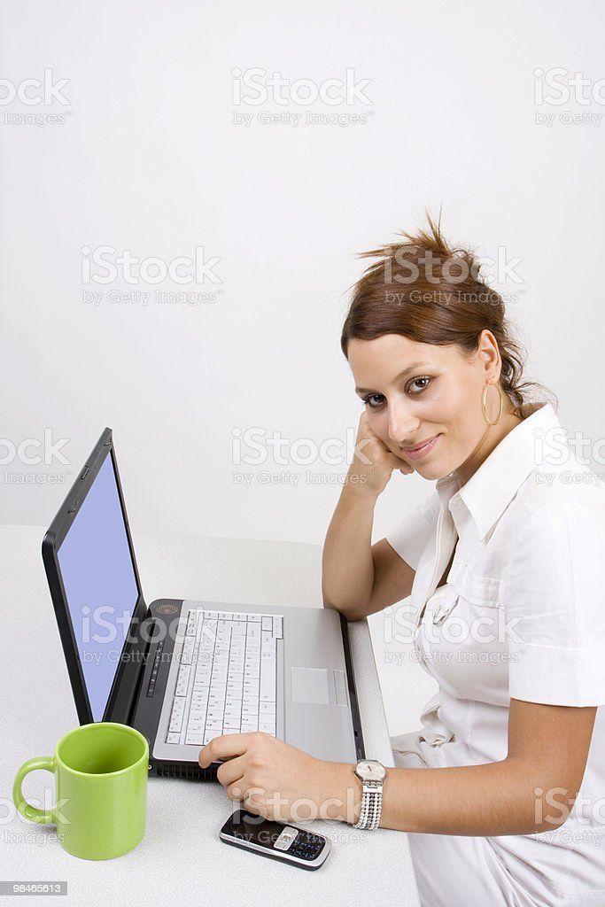 Portrait of working businesswoman royalty-free stock photo