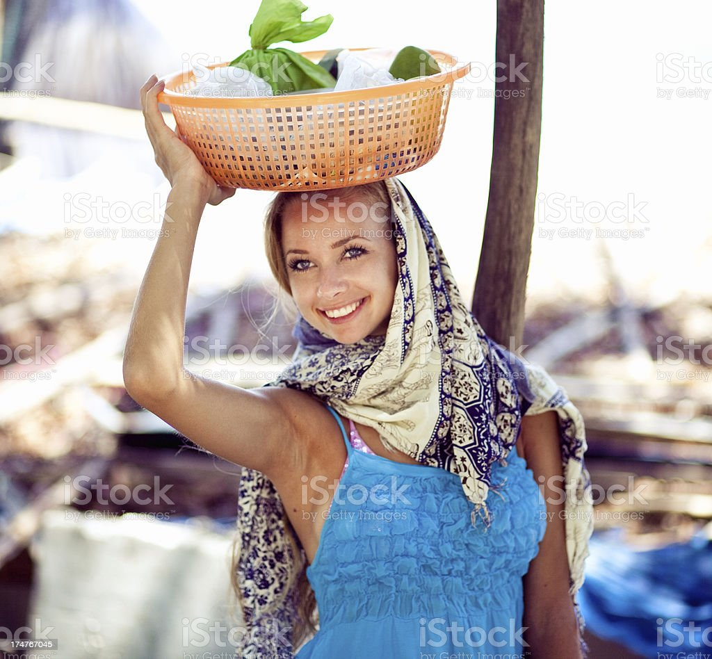 Portrait of working woman royalty-free stock photo
