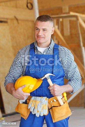 istock portrait of workman 488082608