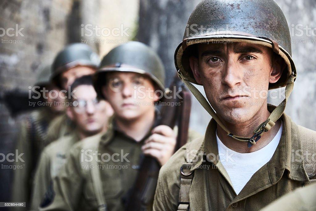 Porträt von Soldaten WW werden. – Foto