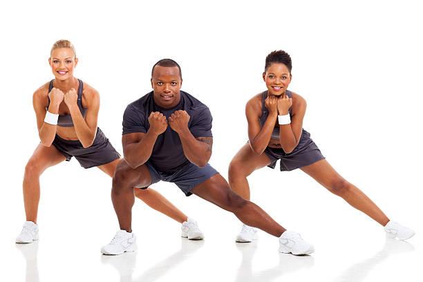 retrato de joven adulto ejercicio - aeróbic fotografías e imágenes de stock