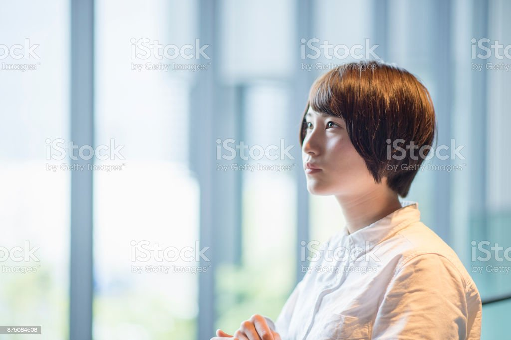 若い大人の女性のポートレート ストックフォト