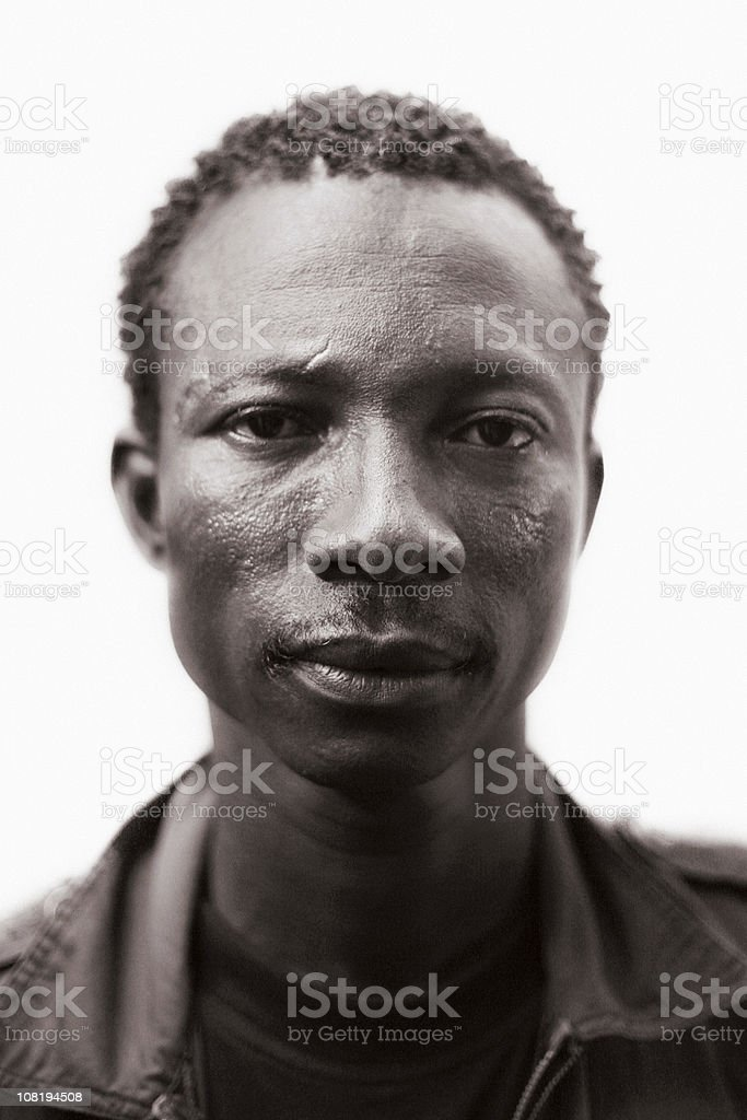 portrait of young african man royalty-free stock photo