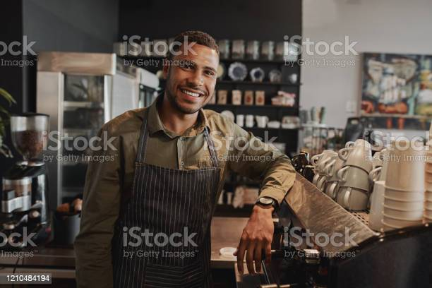 Portrait of young afroamerican male business owner behind the counter picture id1210484194?b=1&k=6&m=1210484194&s=612x612&h=gthkug6qyavgtomedoayztco fmapufu8hjeezr0udq=