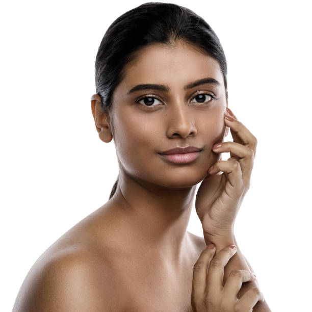 Portrait of young and beautiful Indian woman stock photo