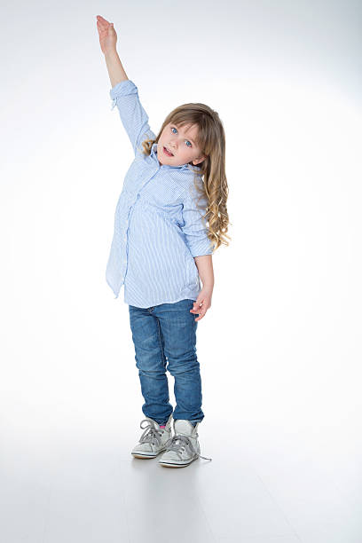 portrait of young and blond kid stock photo