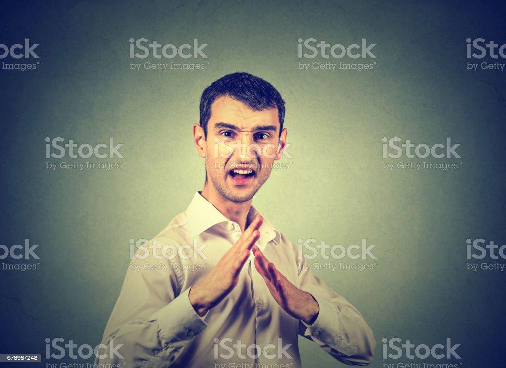 portrait of young angry man photo libre de droits