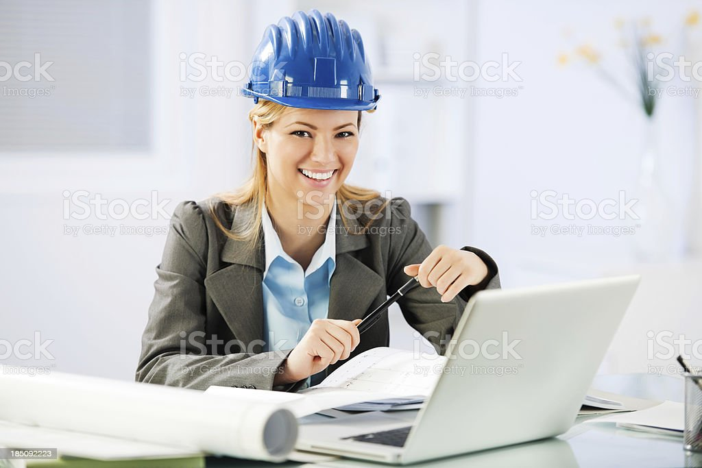 Portrait of young Architect. royalty-free stock photo