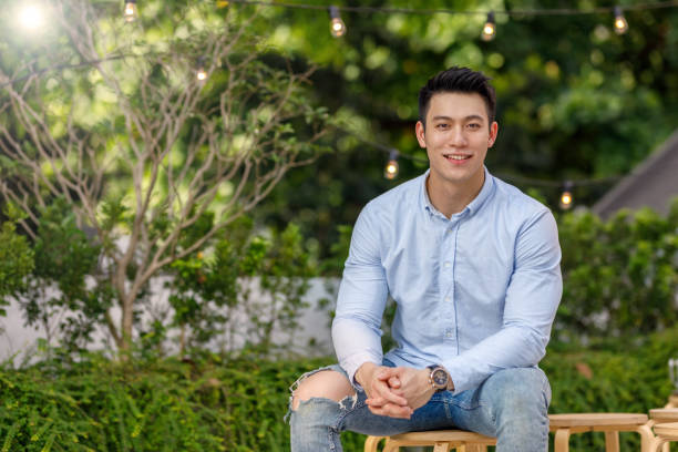 Portrait Of Young Asian Man stock photo