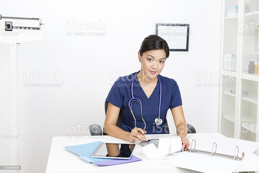 Portrait Of Young Asian Nurse royalty-free stock photo
