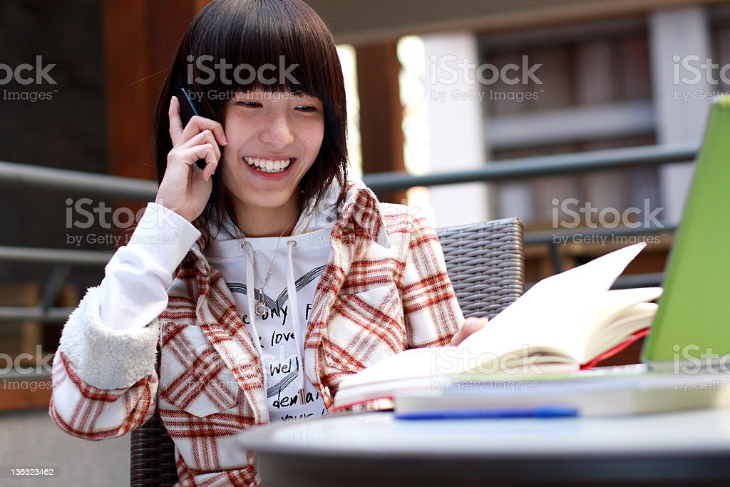 portrait of young asian student royalty-free stock photo