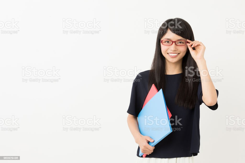 portrait of young asian woman isolated on white background - Royalty-free 20-29 Years Stock Photo