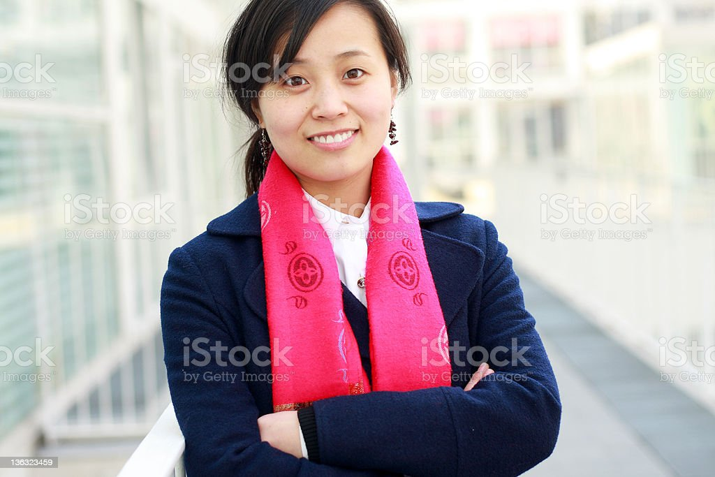 portrait of young asian woman royalty-free stock photo