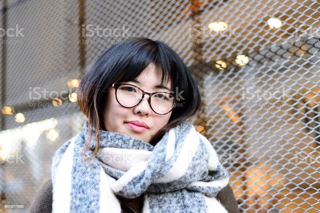 Portrait of Young Asian Woman stock photo