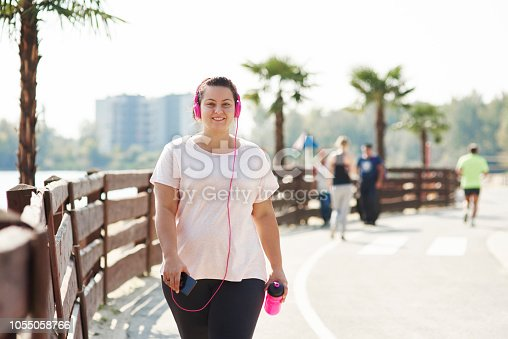 Portrait of young athlete in the city