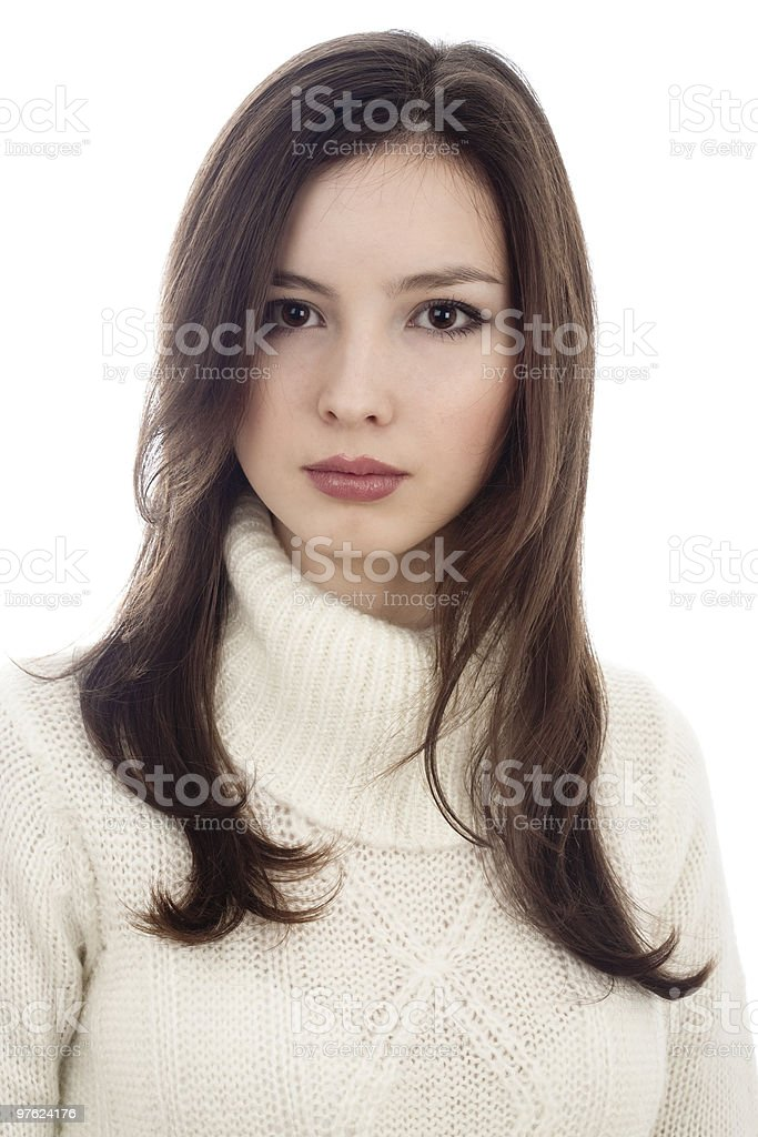 Portrait of young attractive woman royalty-free stock photo