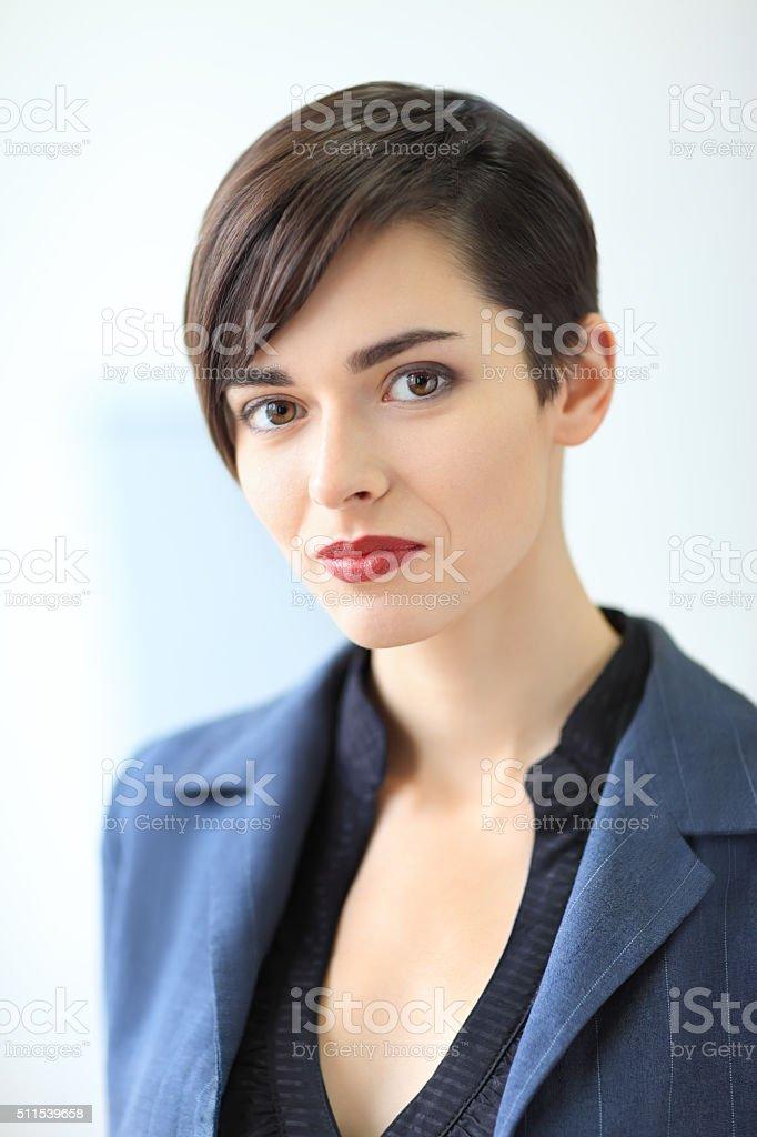 Porträt von junge schöne Geschäftsfrau – Foto