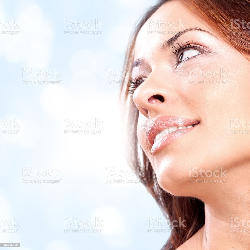 Portrait of young beautiful Caucasian woman royalty-free stock photo