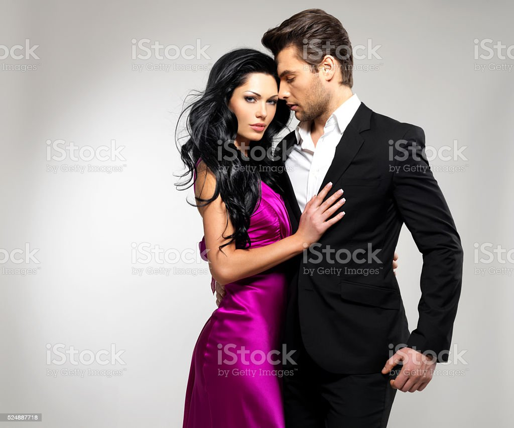 Retrato de jovem bonito Casal apaixonado, - fotografia de stock