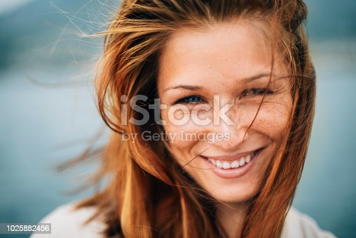 Portrait of young beautiful woman on a avacation