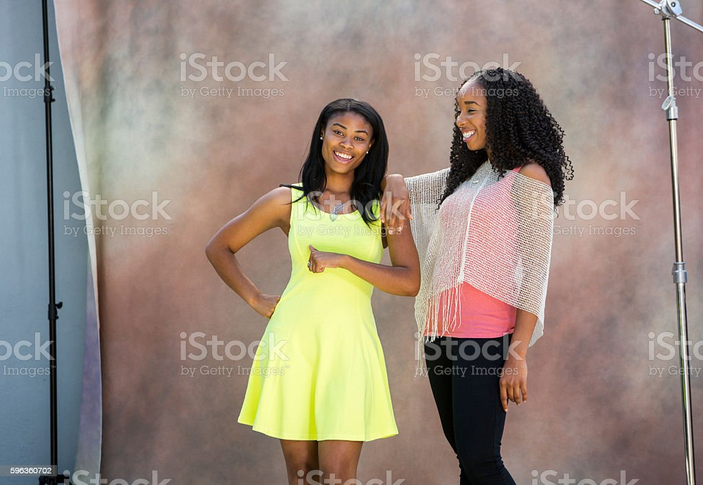 Portrait of Young Black Friends royalty-free stock photo