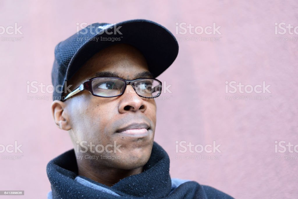 Portrait of young black man stock photo