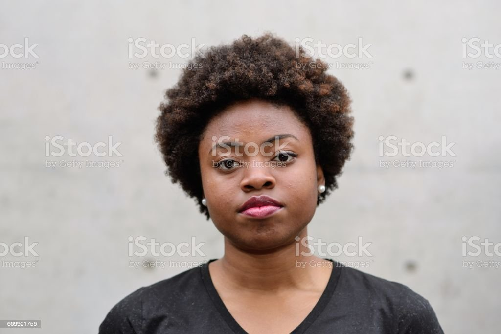 Portrait of young Black woman stock photo