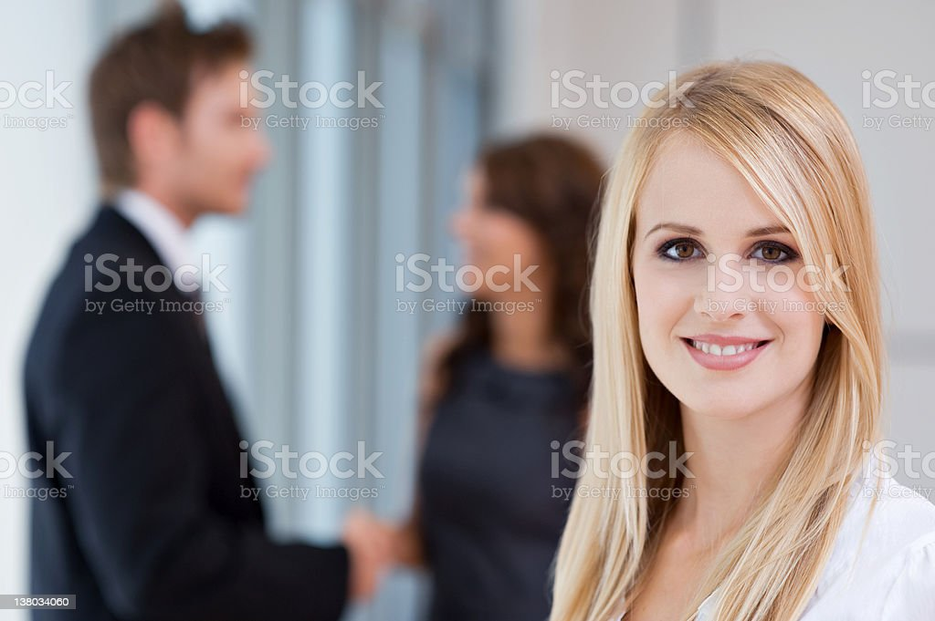 Portrait of young blonde businesswoman royalty-free stock photo