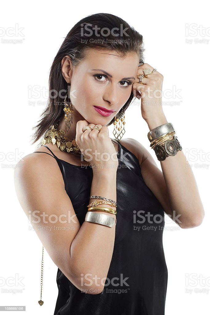 Portrait of Young Brunette Woman royalty-free stock photo