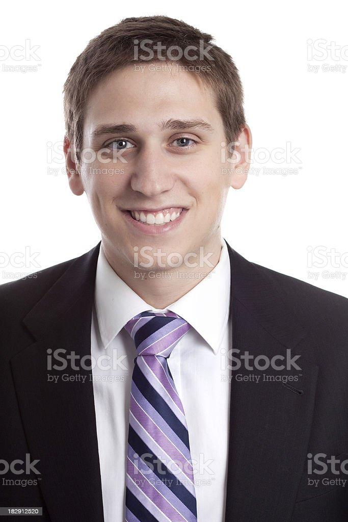 Portrait of Young Business Man royalty-free stock photo