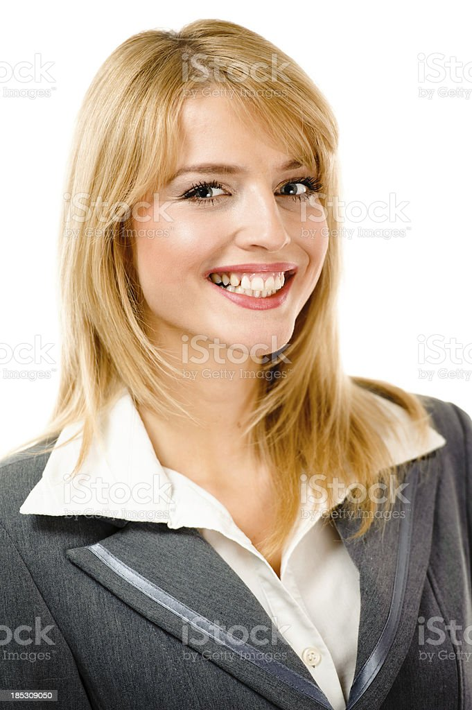 Portrait of young business woman stock photo