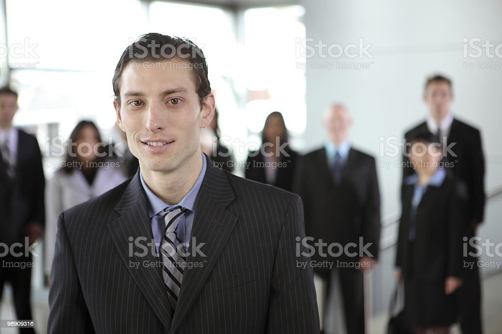 Portrait of young businessman royalty-free stock photo