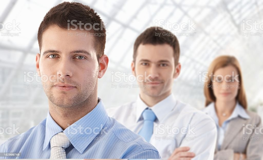 Portrait of young businessteam smiling royalty-free stock photo