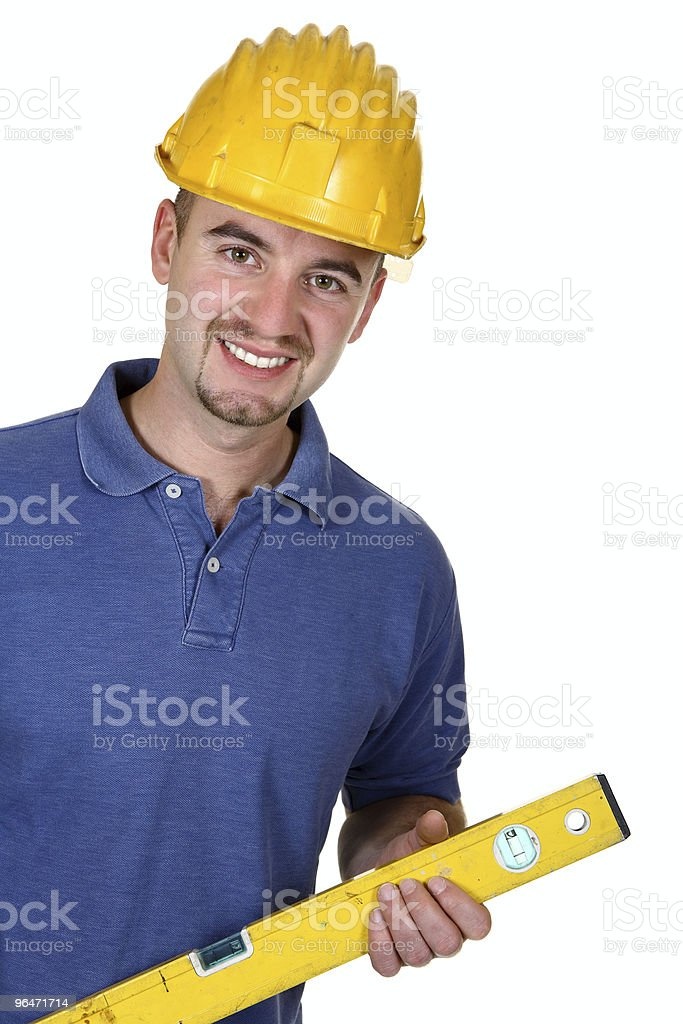 portrait of young caucasian manual worker royalty-free stock photo