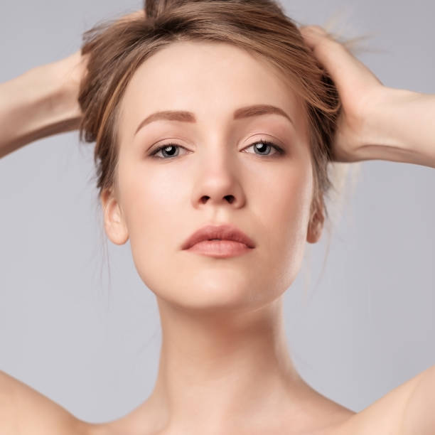 Cтоковое фото Portrait of young caucasian woman with perfect skin clean