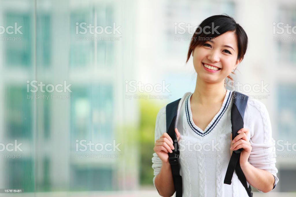 portrait of young college student stock photo