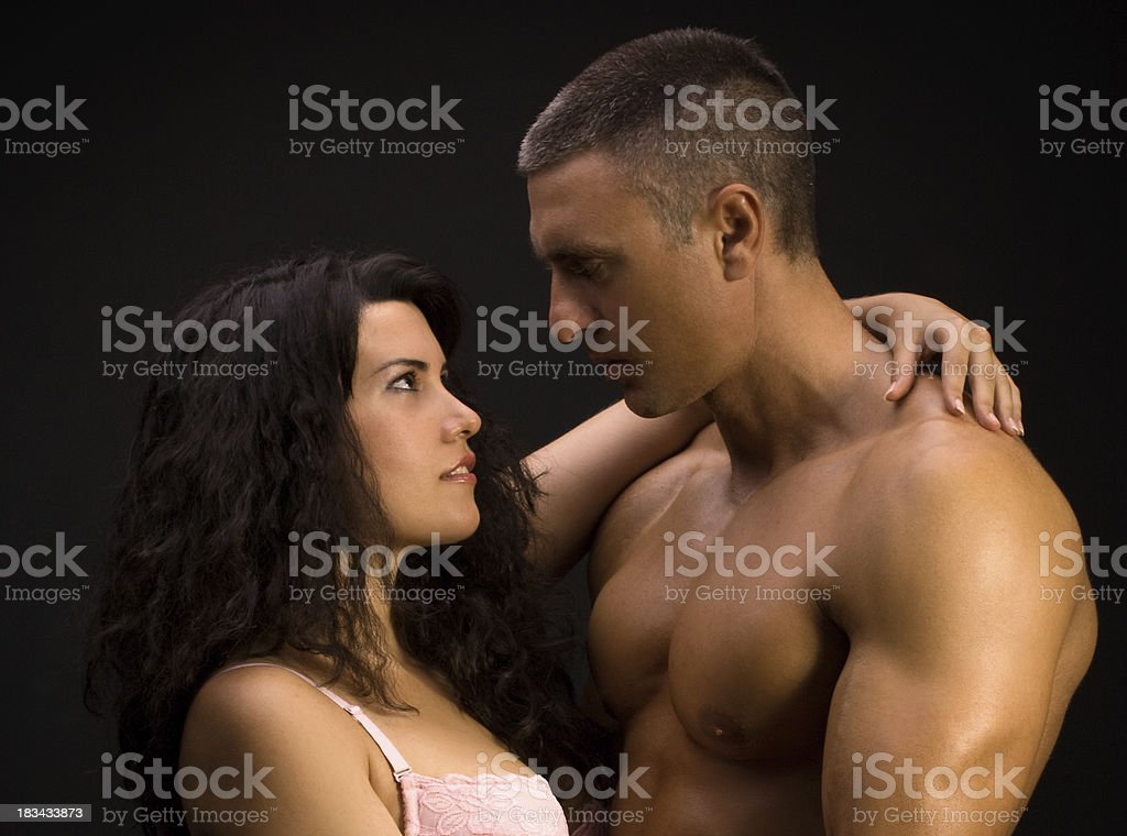 Portrait of Young Couple Hugging royalty-free stock photo