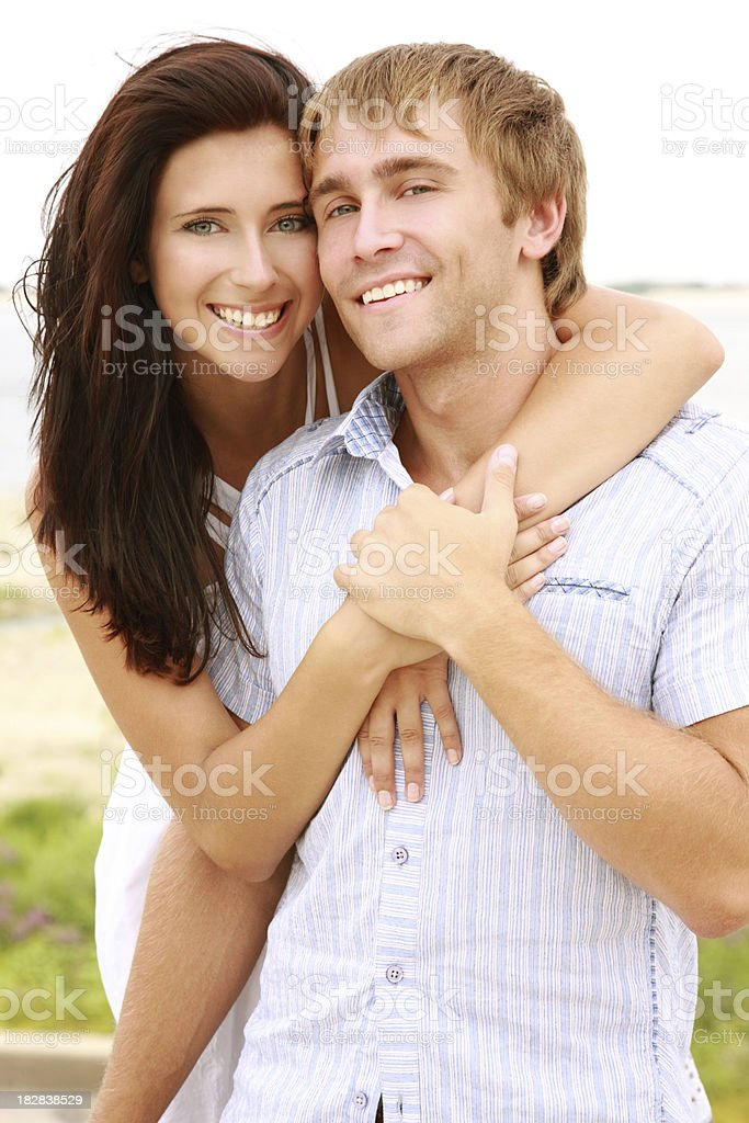 portrait of young couple stock photo