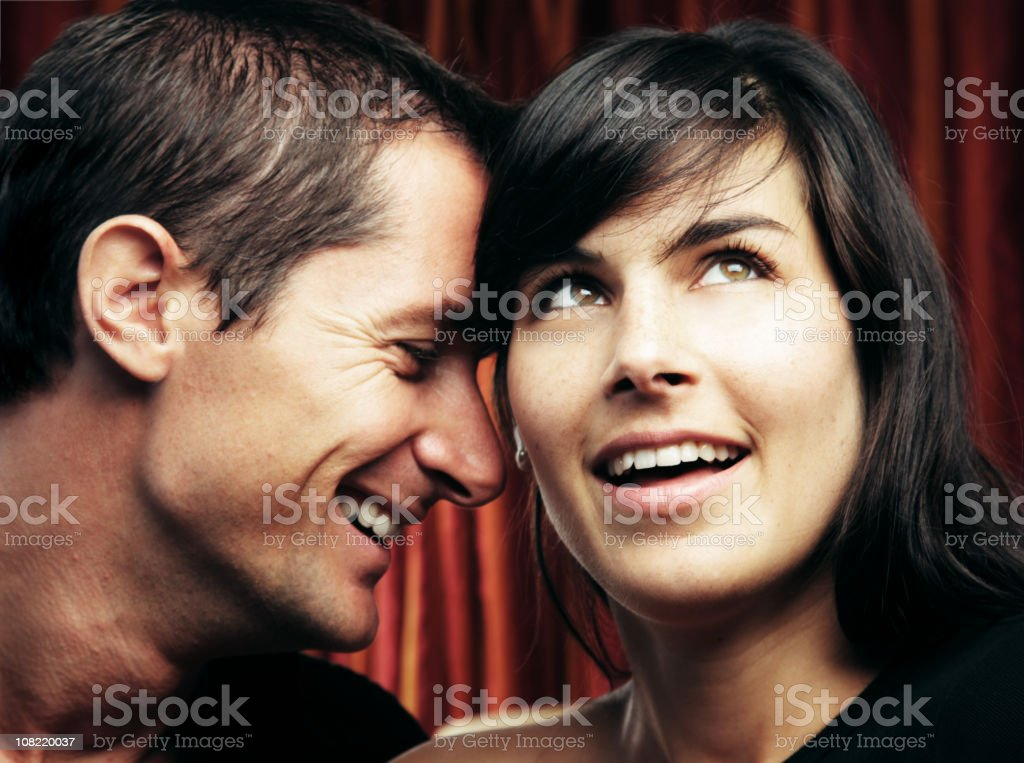 Portrait of Young Couple Smiling royalty-free stock photo