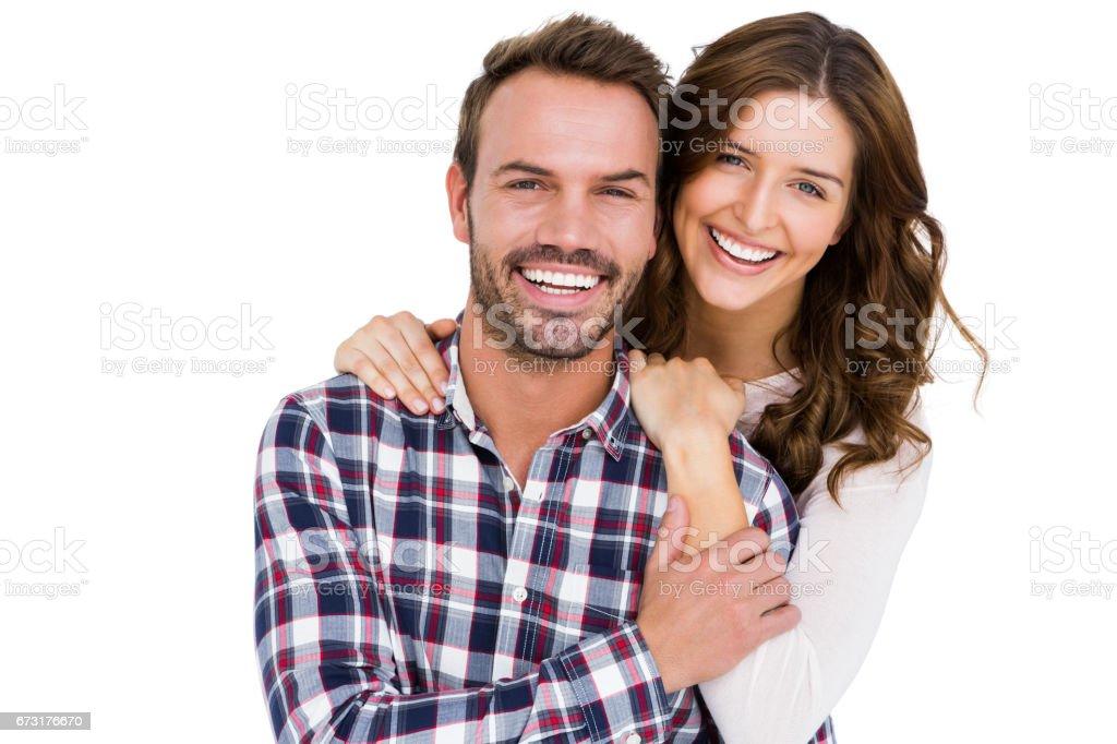 Retrato de jovem casal sorrindo - foto de acervo