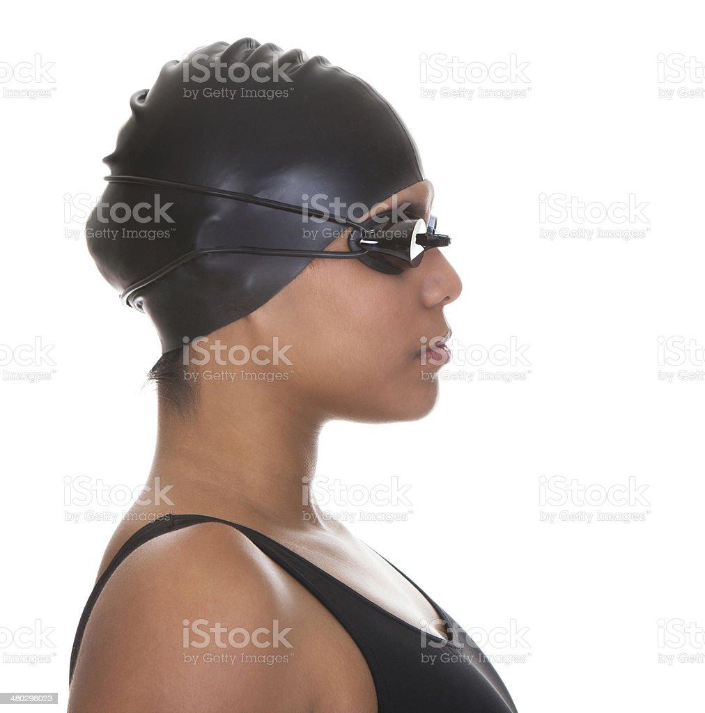 Porträt des jungen weiblichen Schwimmer – Foto