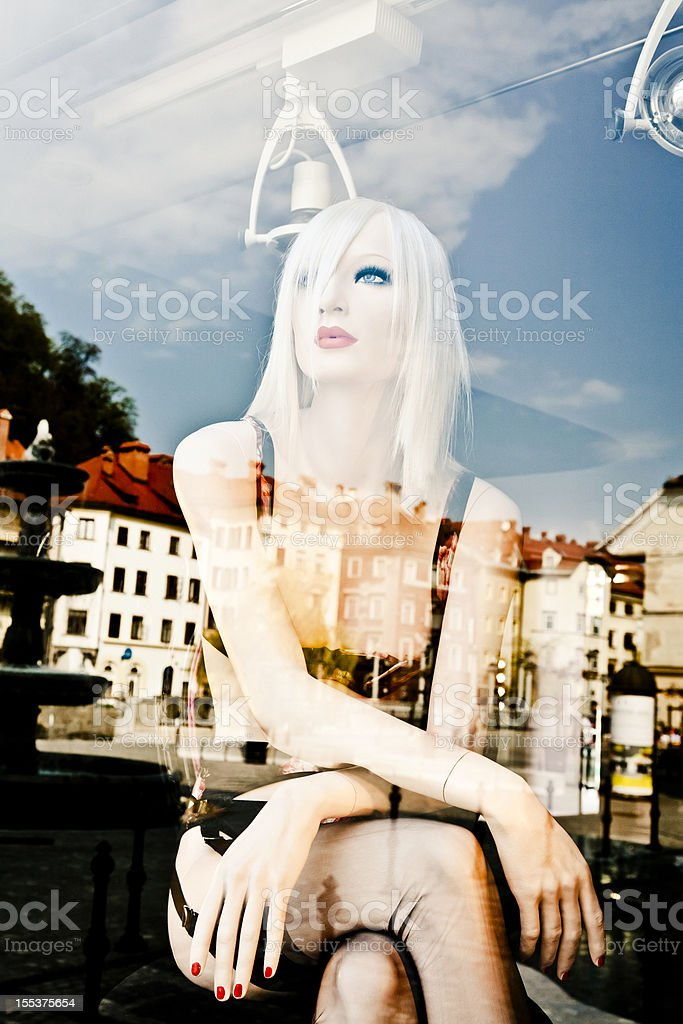 Portrait of Young Girl Mannequin royalty-free stock photo