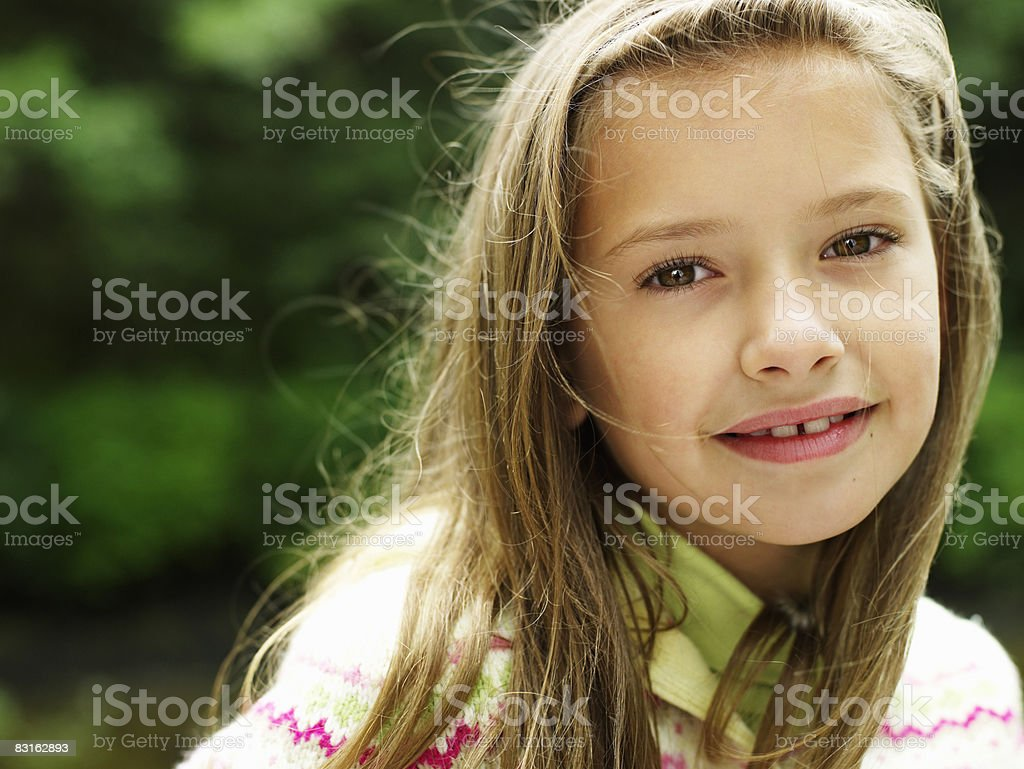 若い女性のポートレート ロイヤリティフリーストックフォト