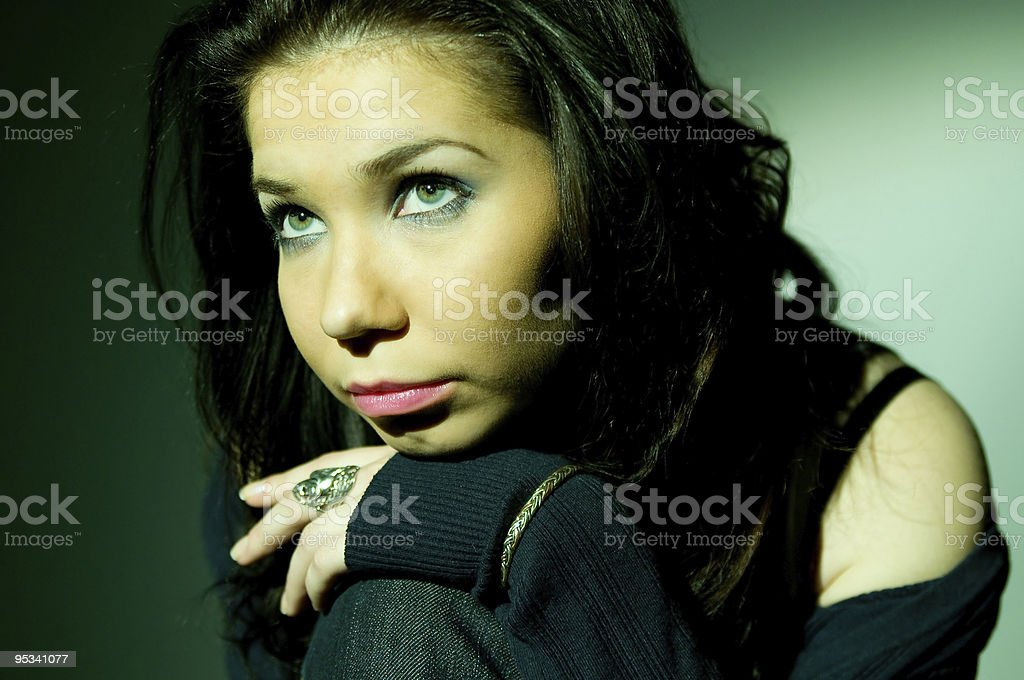 Portrait of young girl royalty-free stock photo