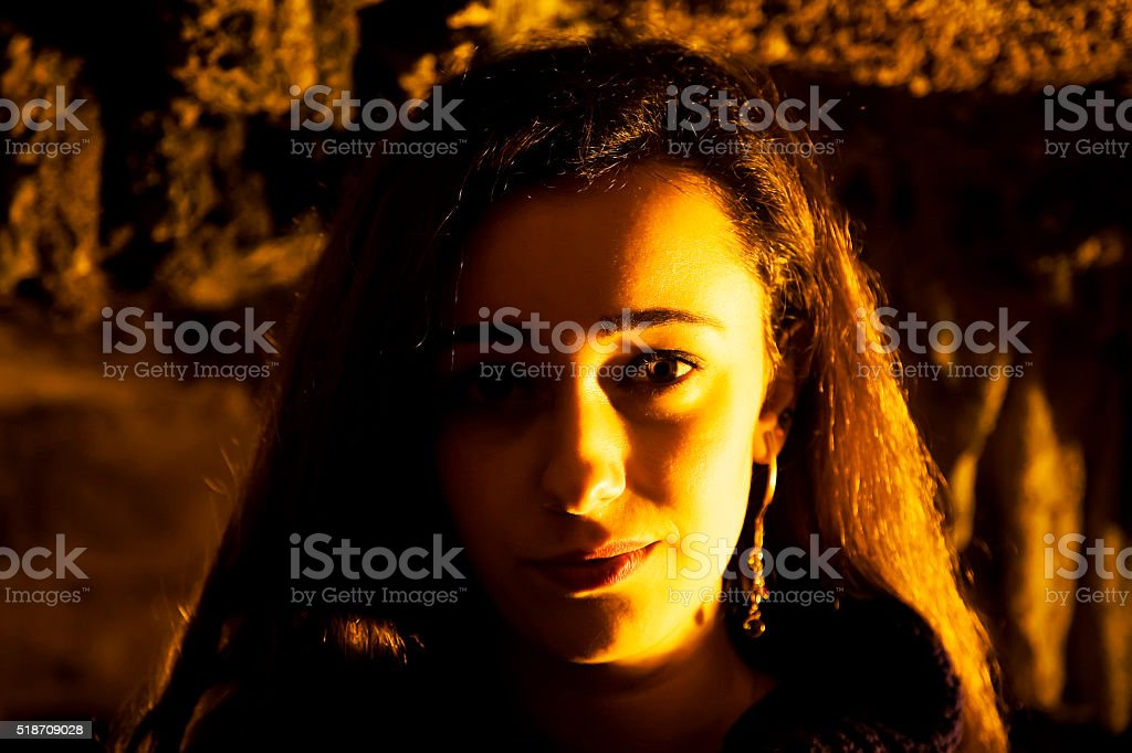 Portrait of young glamour woman stock photo