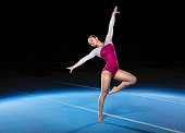 istock portrait of young gymnasts competing in the stadium 623474120