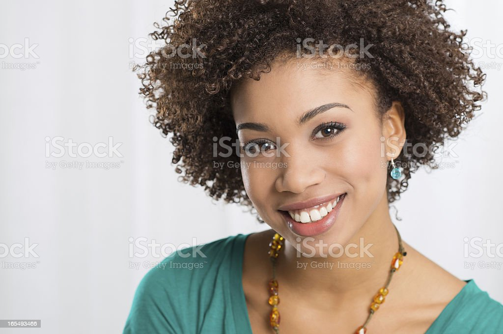 Portrait Of Young Happy Woman royalty-free stock photo