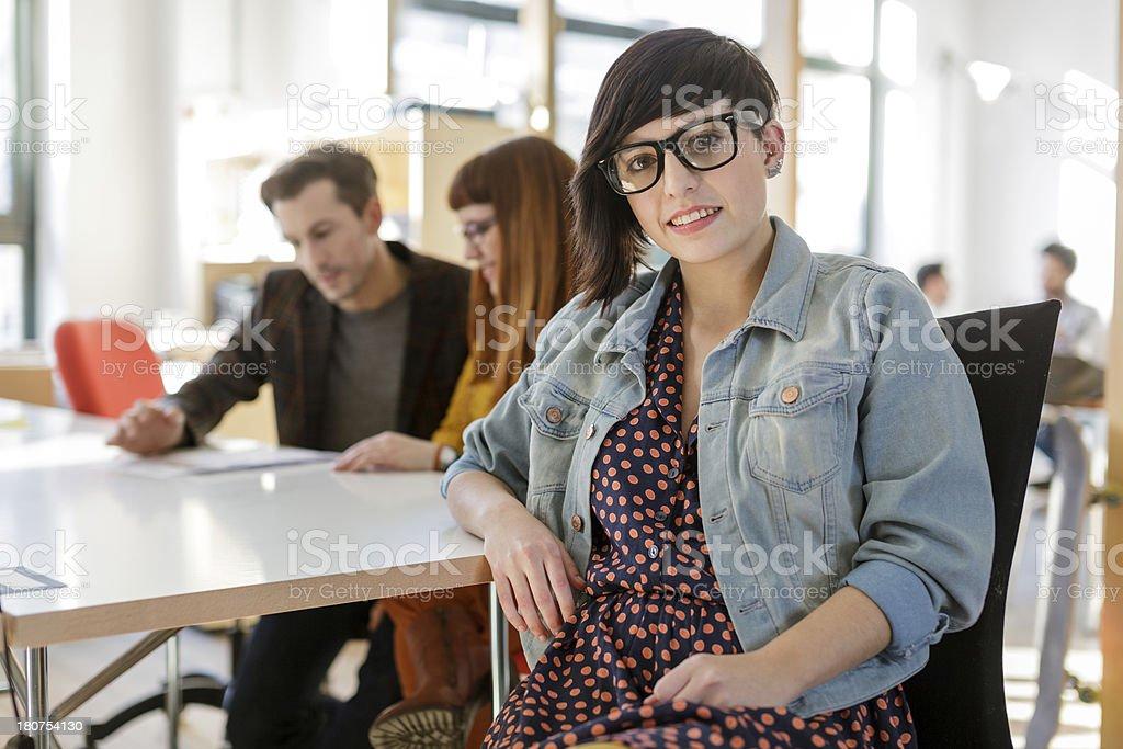 Portrait of Young Hispanic Businesswoman stock photo