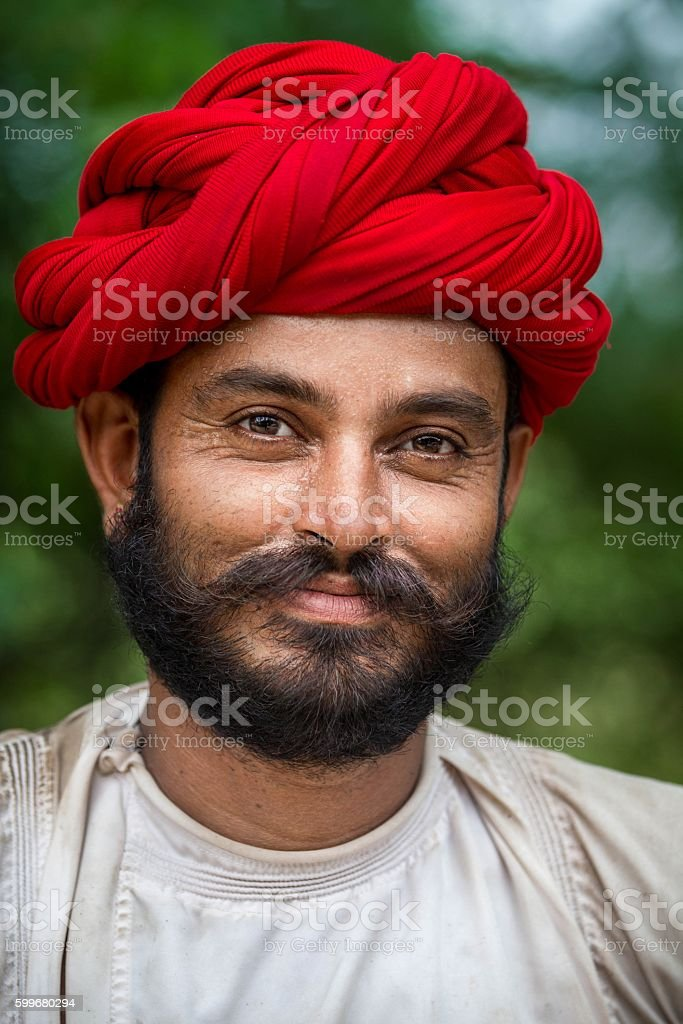 Portrait of Young Indian man. stock photo